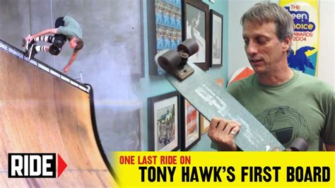 Tony Hawk's Final Ride On His Very First Skateboard - YouTube