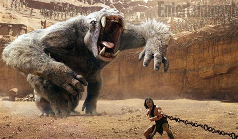 First Look at White Ape Monster Attacking Taylor Kitsch In
