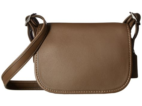Lyst - COACH Glovetanned Leather Saddle Bag in Brown