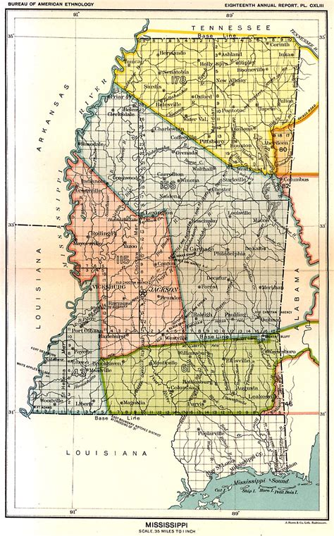State of Mississippi Ancestral Trackers Maps