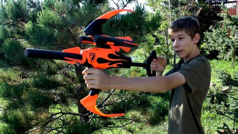 Nerf Blazin' Bow Review and Shooting - YouTube